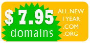 $ 7.95 domain name registration.