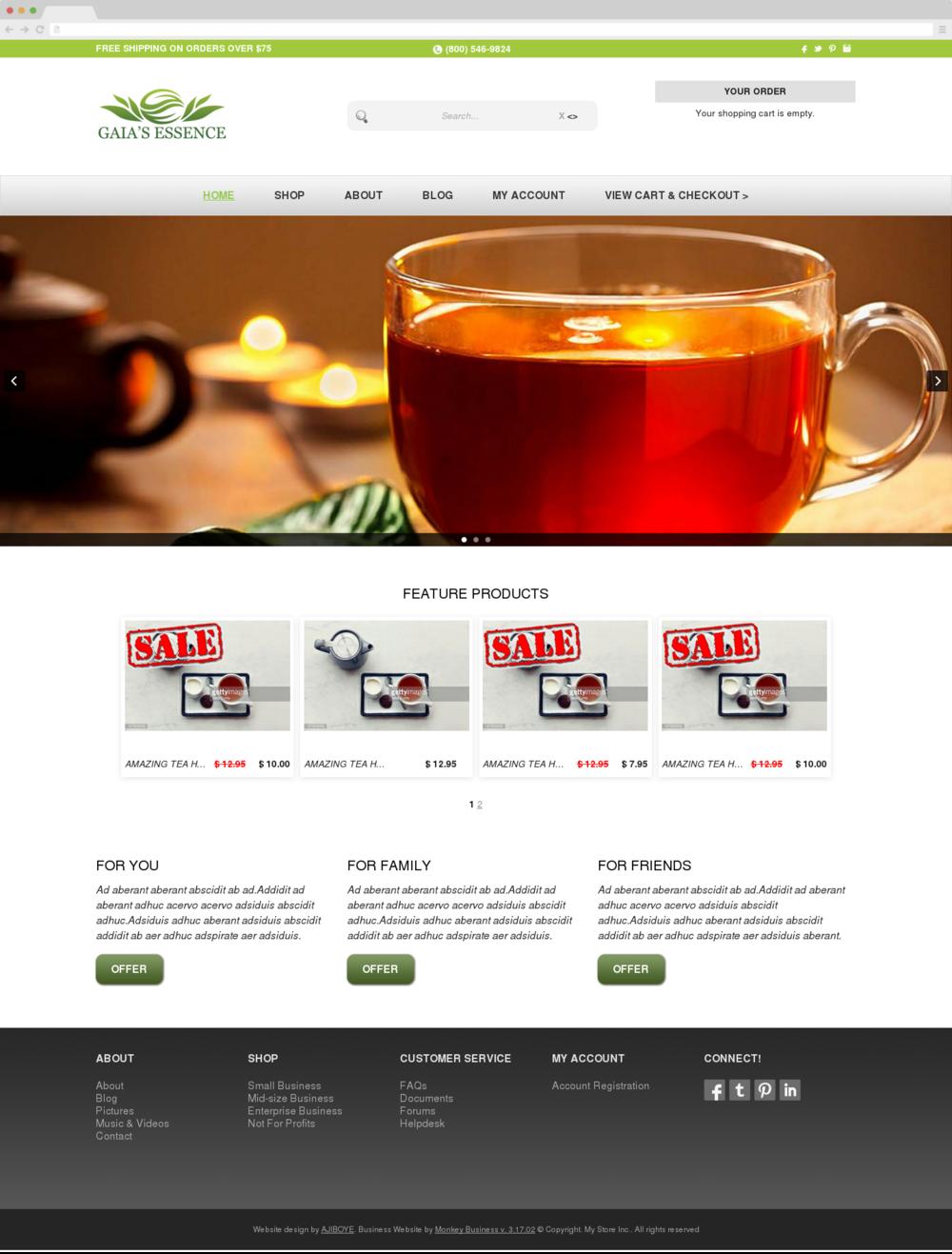 Monkey eStore - a Custom Website Design Theme for Monkey Business